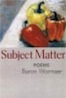 cover link to Subject Matter book page